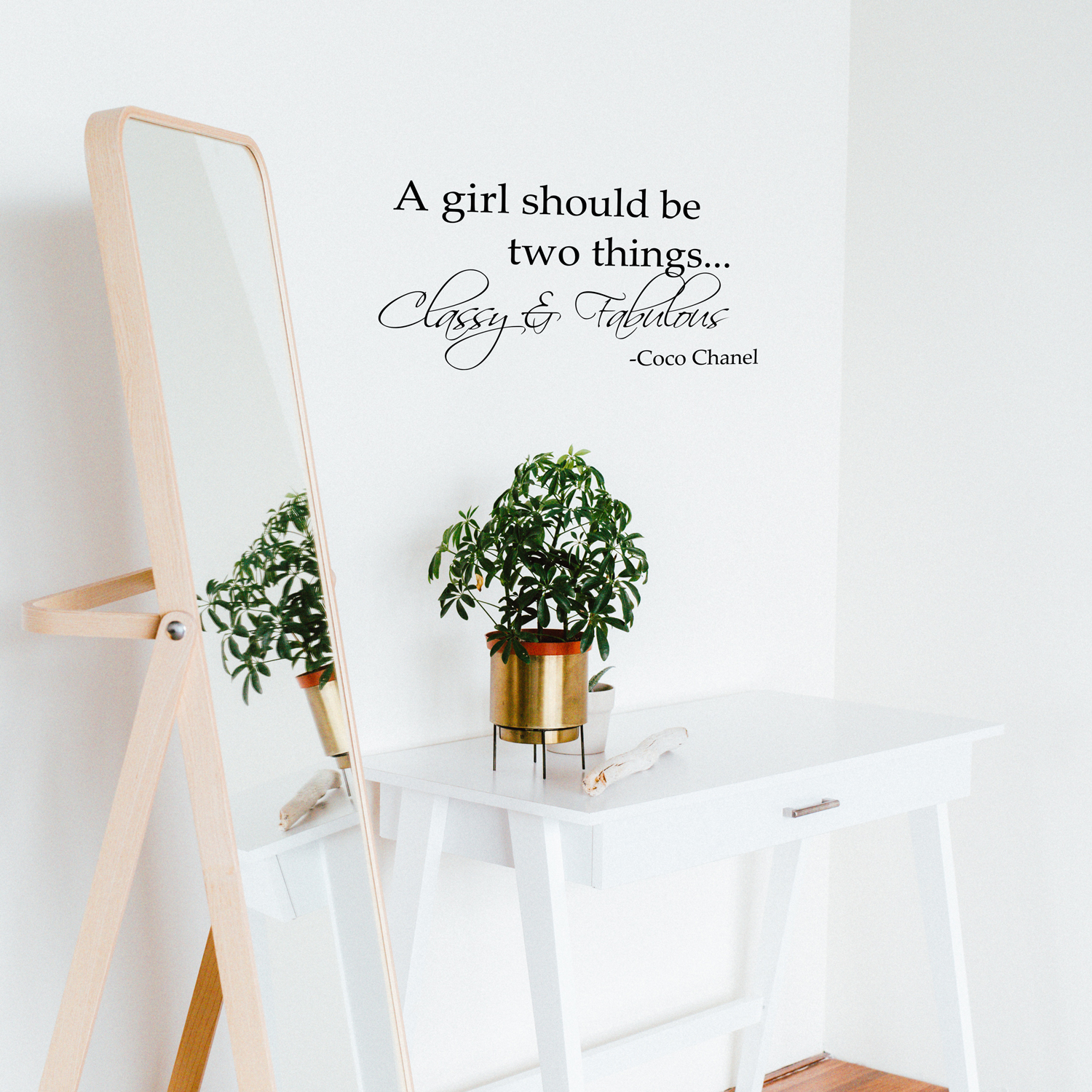 Imprinted Designs A Girl Should Be Two Things Coco Chanel Vinyl Wall Decal Sma 736373548770 Ebay