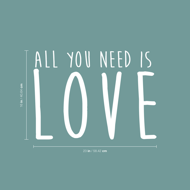 Beatles All you need is Love lennon heart Vinyl Decal permanent indoor outdoor