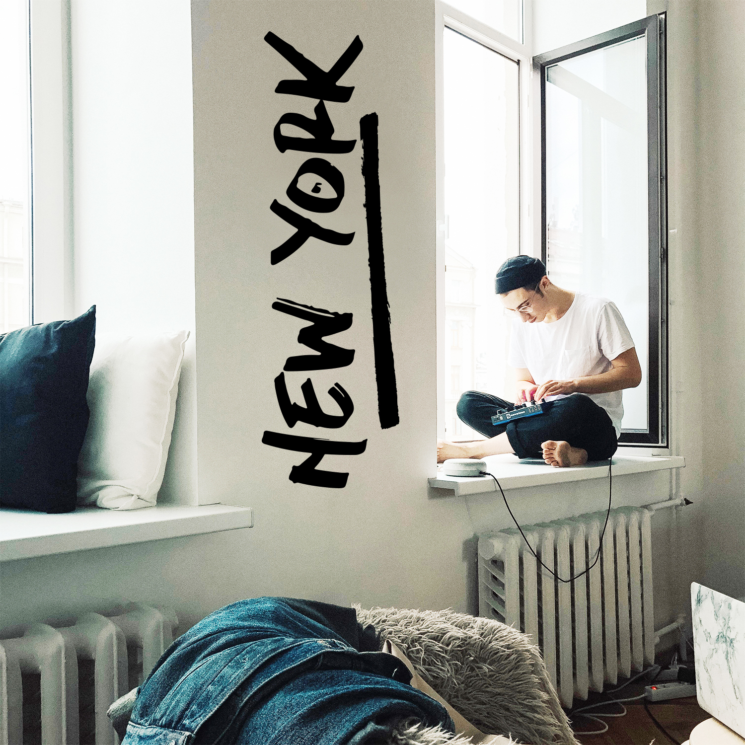 Vinyl Wall Art Decal - New York - 15* x 50* - Cool Stencil T